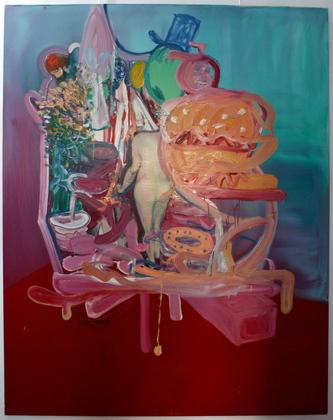 """red carpet"", oil on canvas, 240x190cm, 2006."